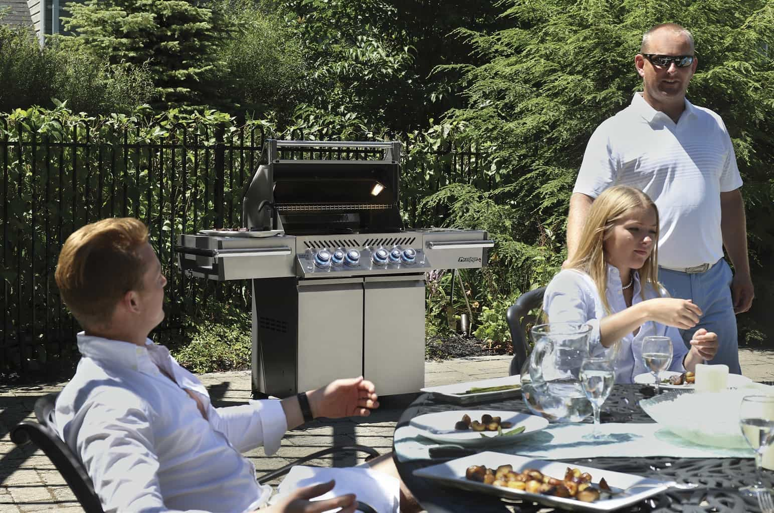 Napoleon Prestige PRO™ 500 with Infrared Rear and Side Burners - Stainless Steel - Propane