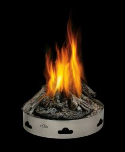 Napoleon Gas Patioflame® with Logs - Stainless Steel Base