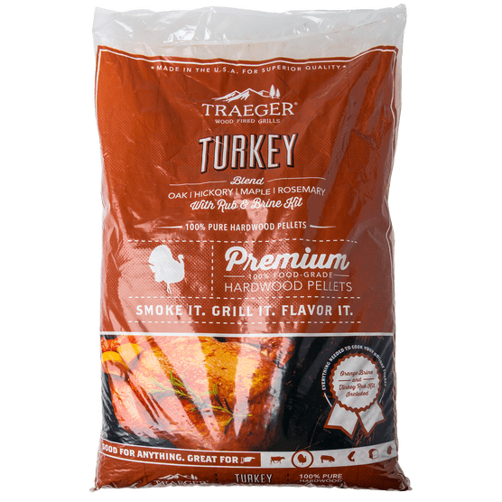 Traeger turkey pellet blend with brine kit brooklin home
